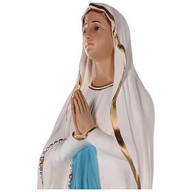 Estatua Virgen de Lourdes fibra de vidrio coloreada 75 cm ojos vidrio s4