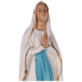 Statua Madonna di Lourdes vetroresina colorata 75 cm occhi vetro s6