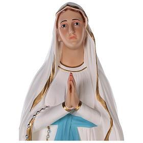 Statua Madonna di Lourdes vetroresina colorata 85 cm occhi vetro s2