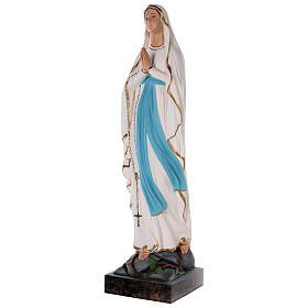 Statua Madonna di Lourdes vetroresina colorata 85 cm occhi vetro s3