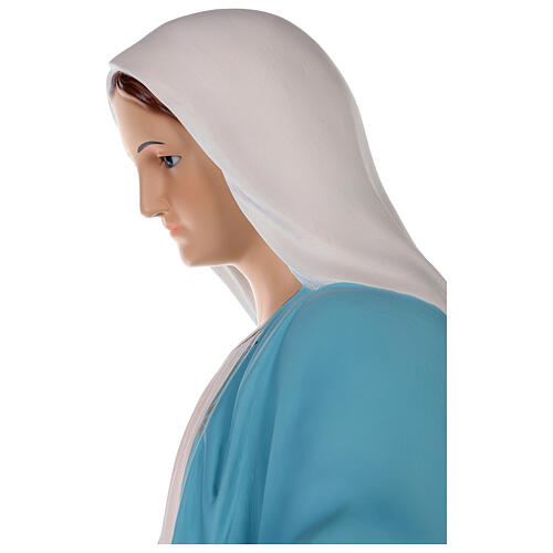 Our Lady of Miracles statue 85 cm, in colored fiberglass with glass eyes 4
