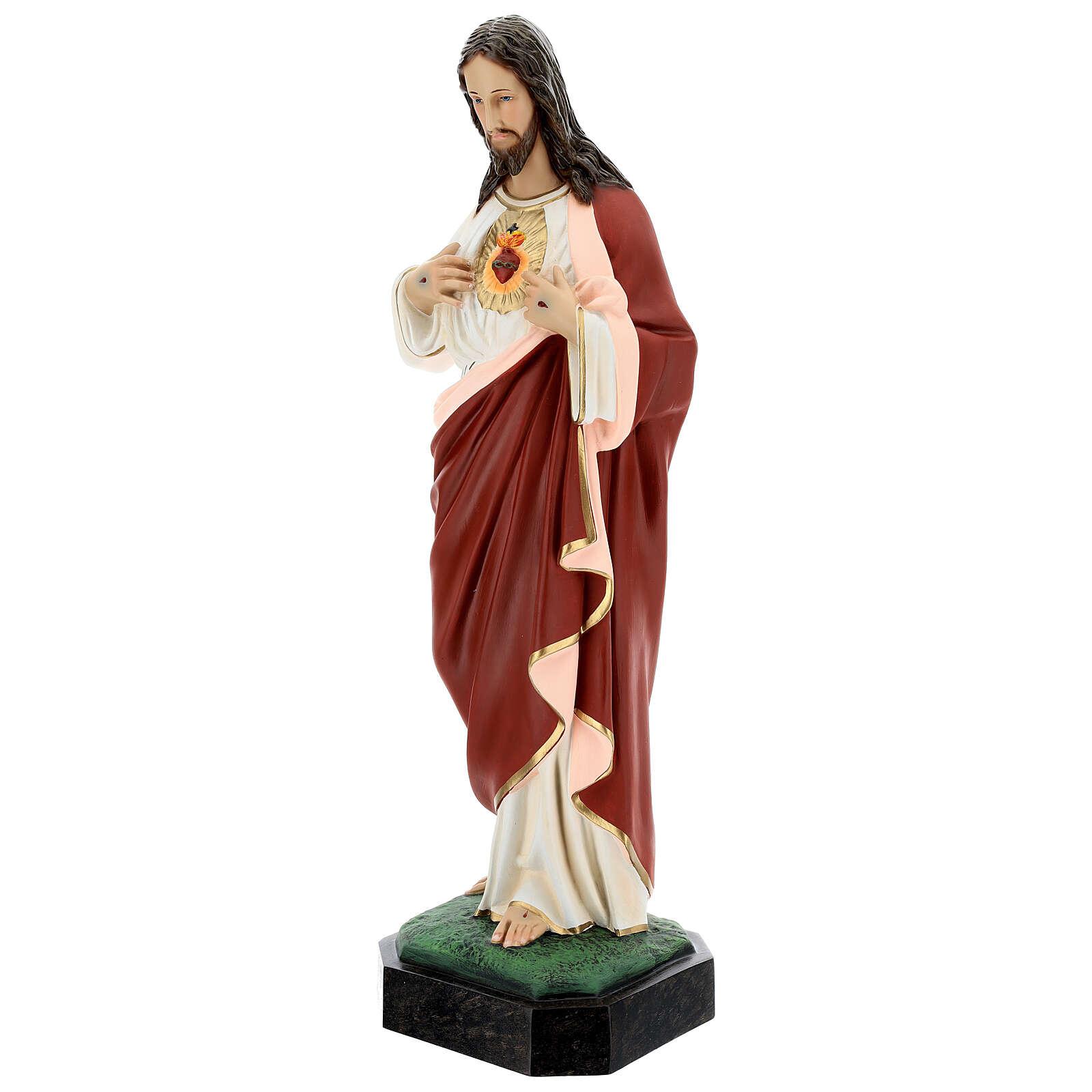 Statua Sacro Cuore Gesù 65 cm vetroresina dipinta 4