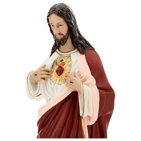 Imagem Sagrado Coração de Jesus 65 cm fibra de vidro pintada