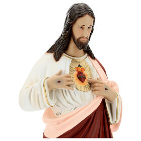 Sacred Heart of Jesus statue, 65 cm painted fiberglass s4
