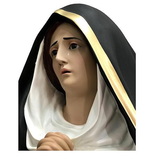 Statue Notre-Dame des Douleurs larmes 160 cm fibre de verre peinte