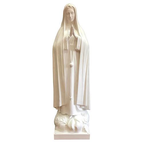 Imagem Nossa Senhora de Fátima fibra de vidro branca 180 cm PARA EXTERIOR