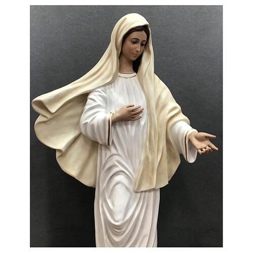 Estatua Virgen Medjugorje 170 cm fibra de vidrio pintada