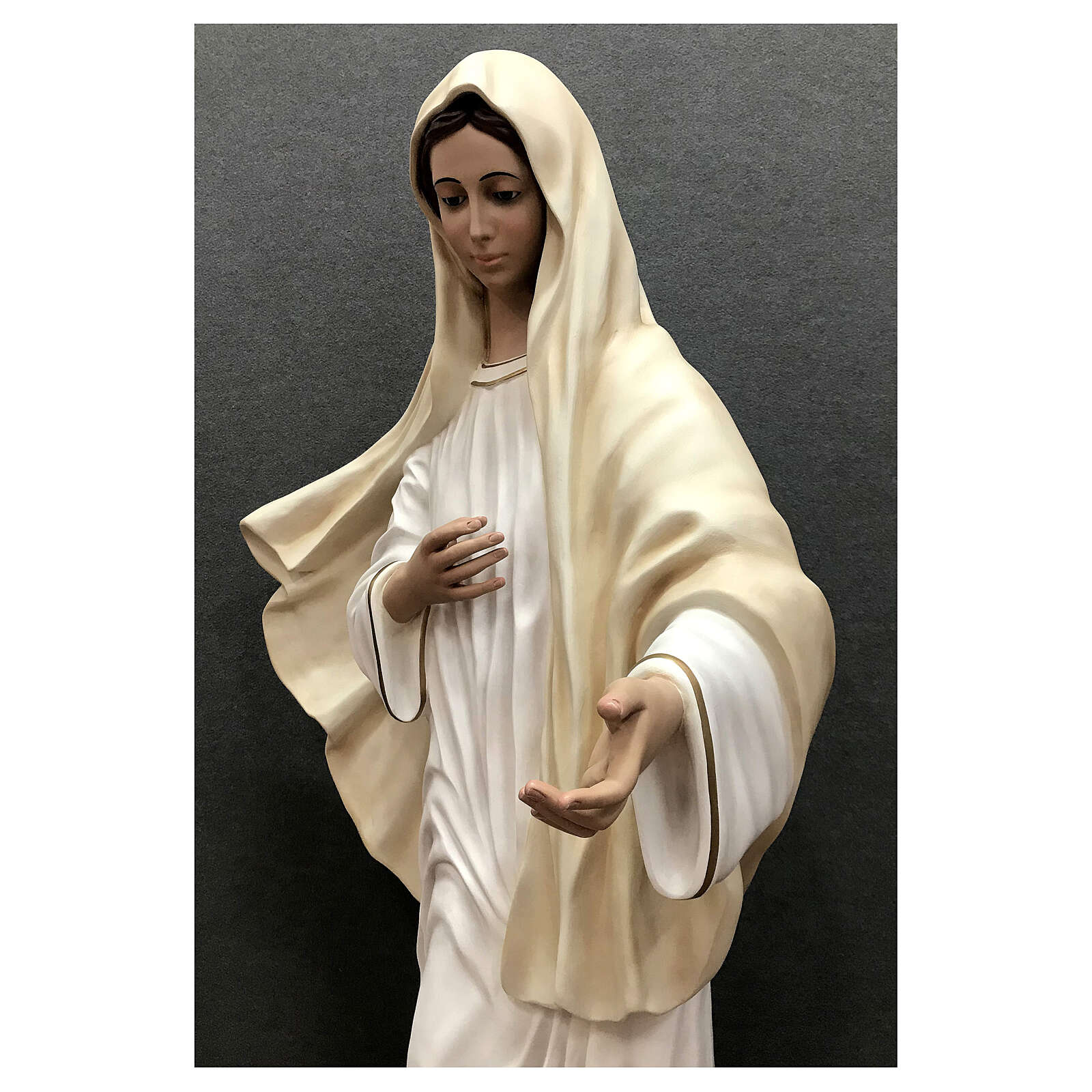 Our Lady of Medjugorje statue 170 cm painted fiberglass 4
