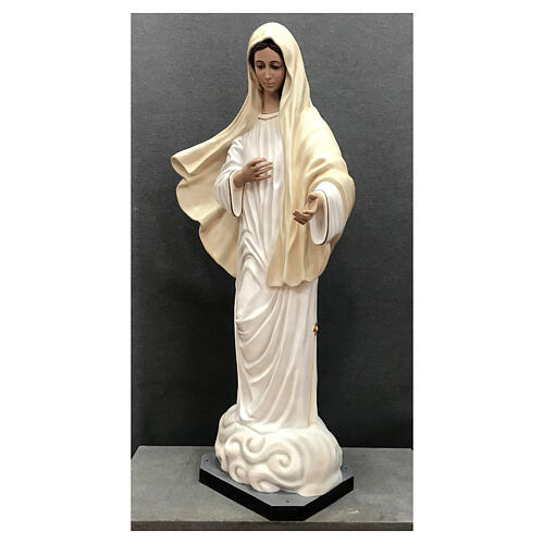 Our Lady of Medjugorje statue 170 cm painted fiberglass 3