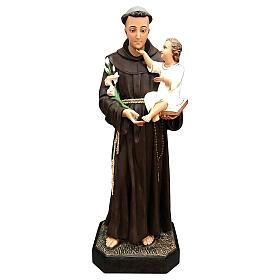 Estatua San Antonio Niño caricia 130 cm fibra de vidrio pintada