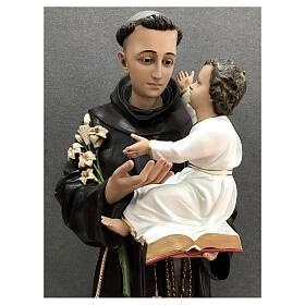 Estatua San Antonio Niño abrazo fibra de vidrio pintada 160 cm