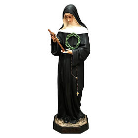 Saint Rita with crucifix, 100 cm, painted fibreglass statue