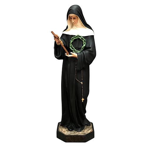 Estatua Santa Rita crucifijo 100 cm fibra de vidrio pintada
