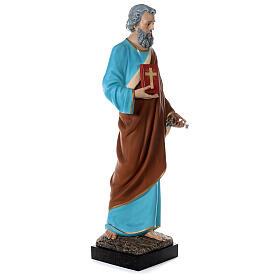 Statua San Pietro 160 cm colorata vetroresina OCCHI VETRO s5
