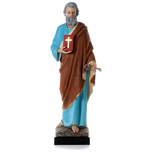 Statua San Pietro 160 cm colorata vetroresina OCCHI VETRO 1