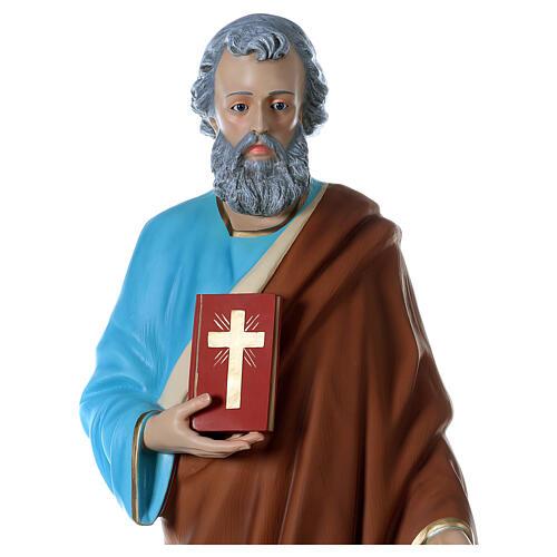 Statua San Pietro 160 cm colorata vetroresina OCCHI VETRO 2