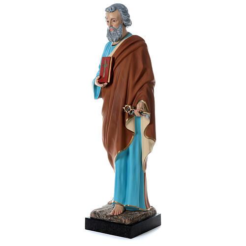 Statua San Pietro 160 cm colorata vetroresina OCCHI VETRO 3