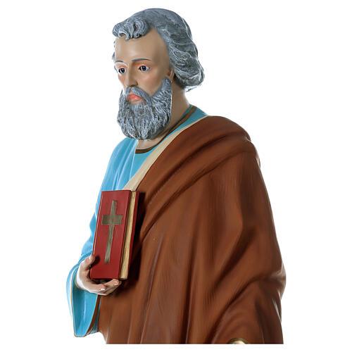 Statua San Pietro 160 cm colorata vetroresina OCCHI VETRO 4