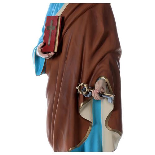 Statua San Pietro 160 cm colorata vetroresina OCCHI VETRO 6