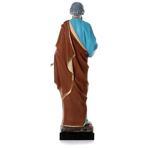Statua San Pietro 160 cm colorata vetroresina OCCHI VETRO 7