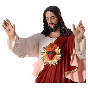 Imagem Sagrado Coração de Jesus braços abertos 160 cm fibra de vidro OLHOS VIDRO