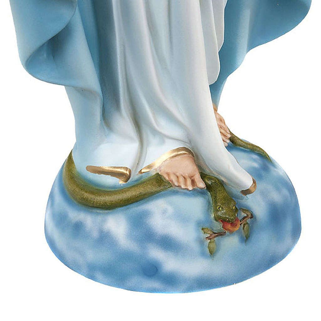 Statua Madonna Immacolata marmo sintetico 40 cm 4