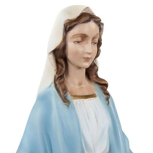 Statua Madonna Immacolata marmo sintetico 40 cm 2