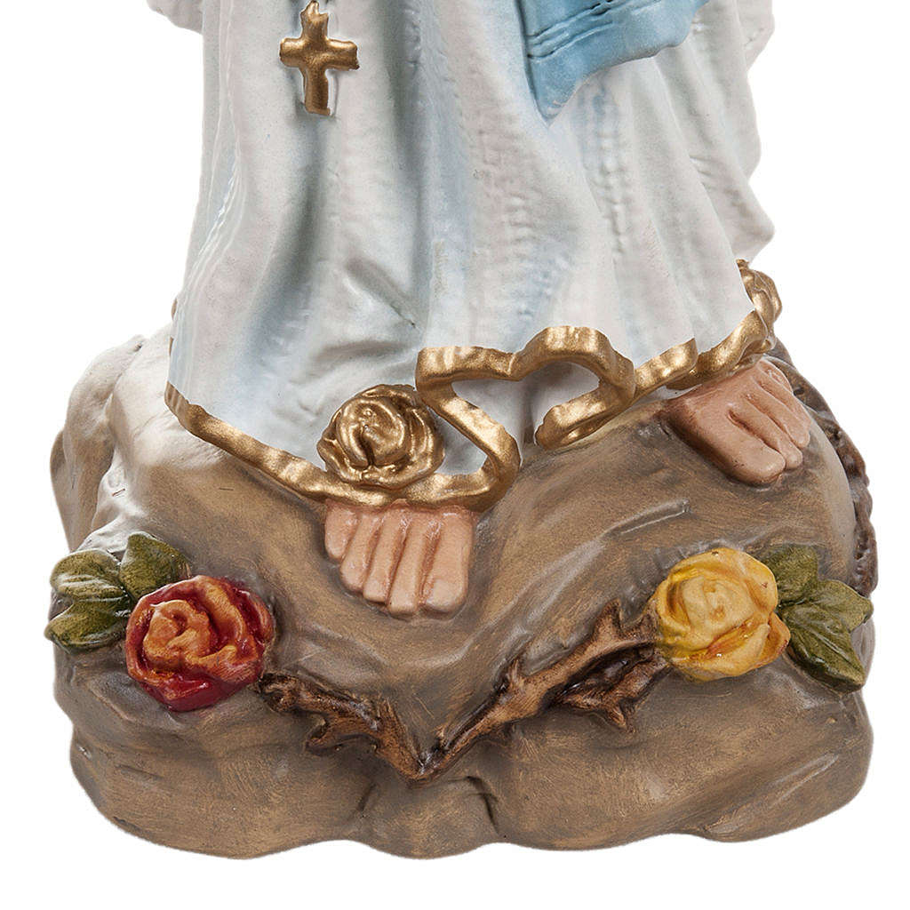 Our Lady of Lourdes, reconstituted marble statue , 40 cm height 4
