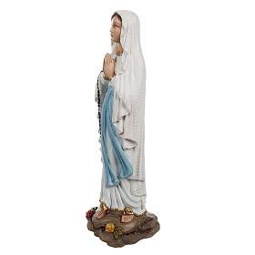 Notre Dame de Lourdes marbre reconstitué 40 cm pour exterieur s6