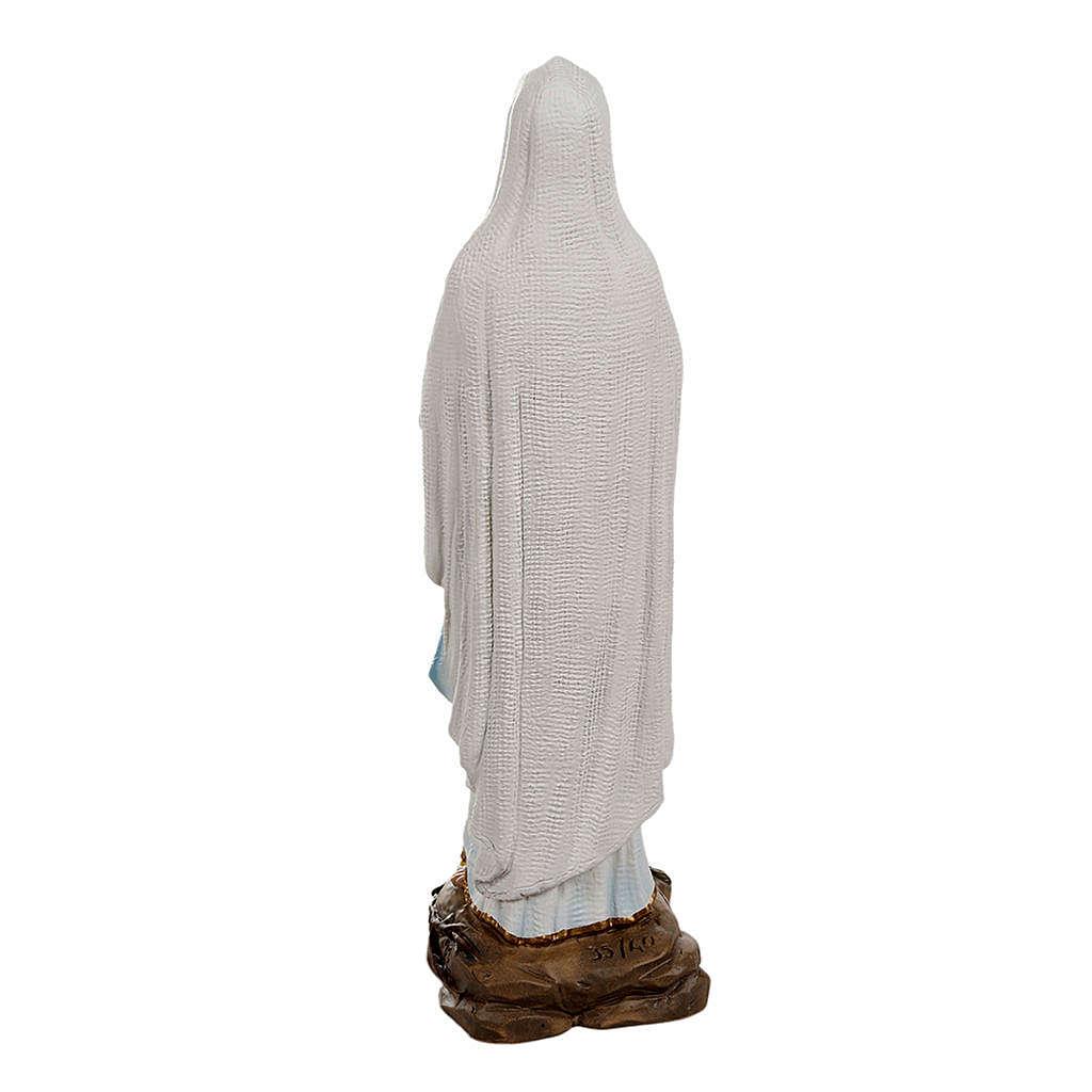 Nossa Senhora de Lourdes mármore sintético 40 cm 4