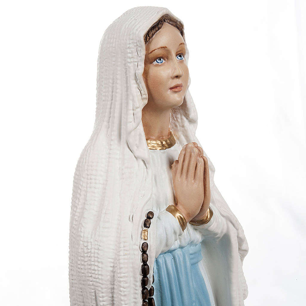 Our Lady of Lourdes, composite marble statue , 40 cm height 4