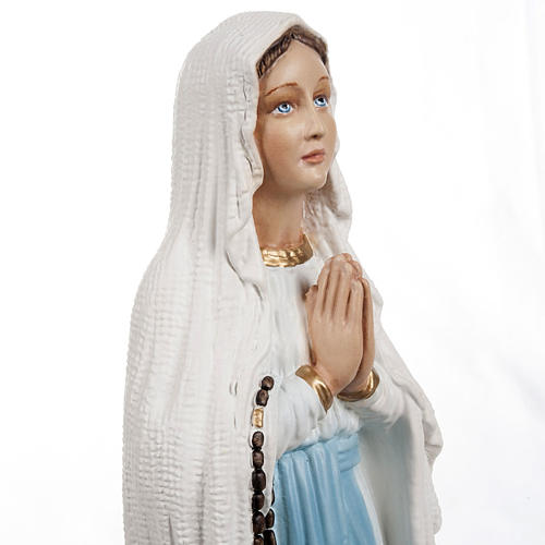Our Lady of Lourdes, composite marble statue , 40 cm height 5