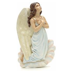 Ange à accrocher marbre reconstitué 25 cm s1