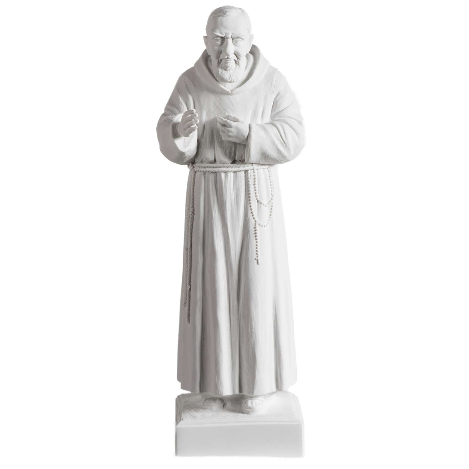 Father Pio statue in white reconstituted marble 40 cm 4