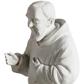 Father Pio statue in white reconstituted marble 40 cm s6