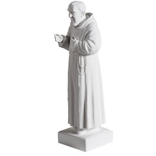 Padre pio marmo sintetico bianco 40 cm 4