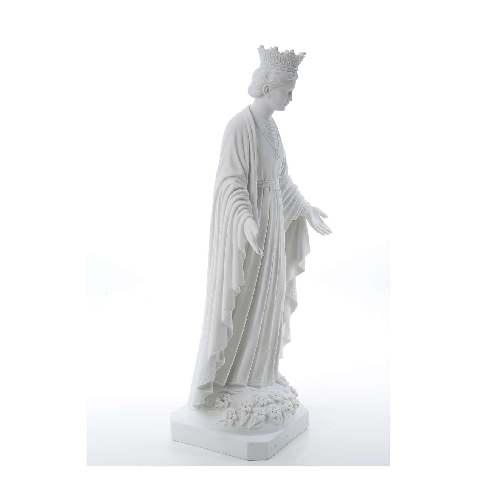 Virgen de la Pureza de mármol sintético 70 cm 4
