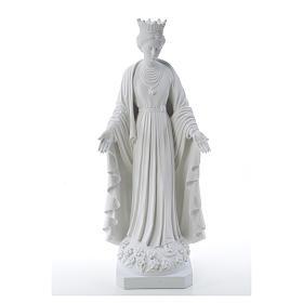 Virgen de la Pureza de mármol sintético 70 cm s5