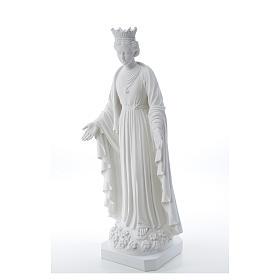 Virgen de la Pureza de mármol sintético 70 cm s6