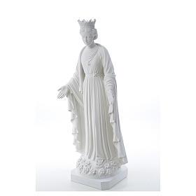Virgen de la Pureza de mármol sintético 70 cm s2