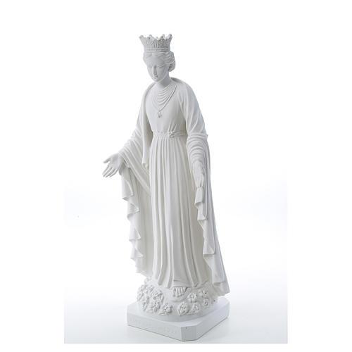 Virgen de la Pureza de mármol sintético 70 cm 2