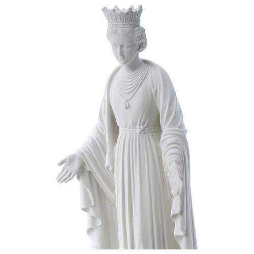 Virgen de la Pureza de mármol sintético 70 cm