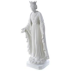 Madonna della purezza marmo sintetico 70 cm s3