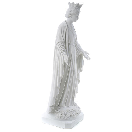 Madonna della purezza marmo sintetico 70 cm 5