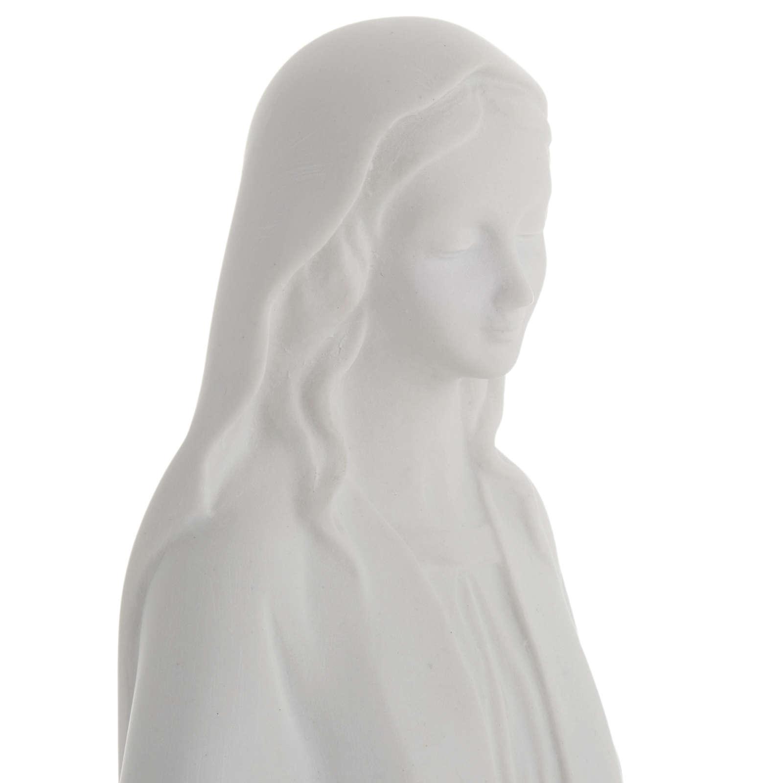 Estatua de la Virgen Inmaculada mármol sintético 4