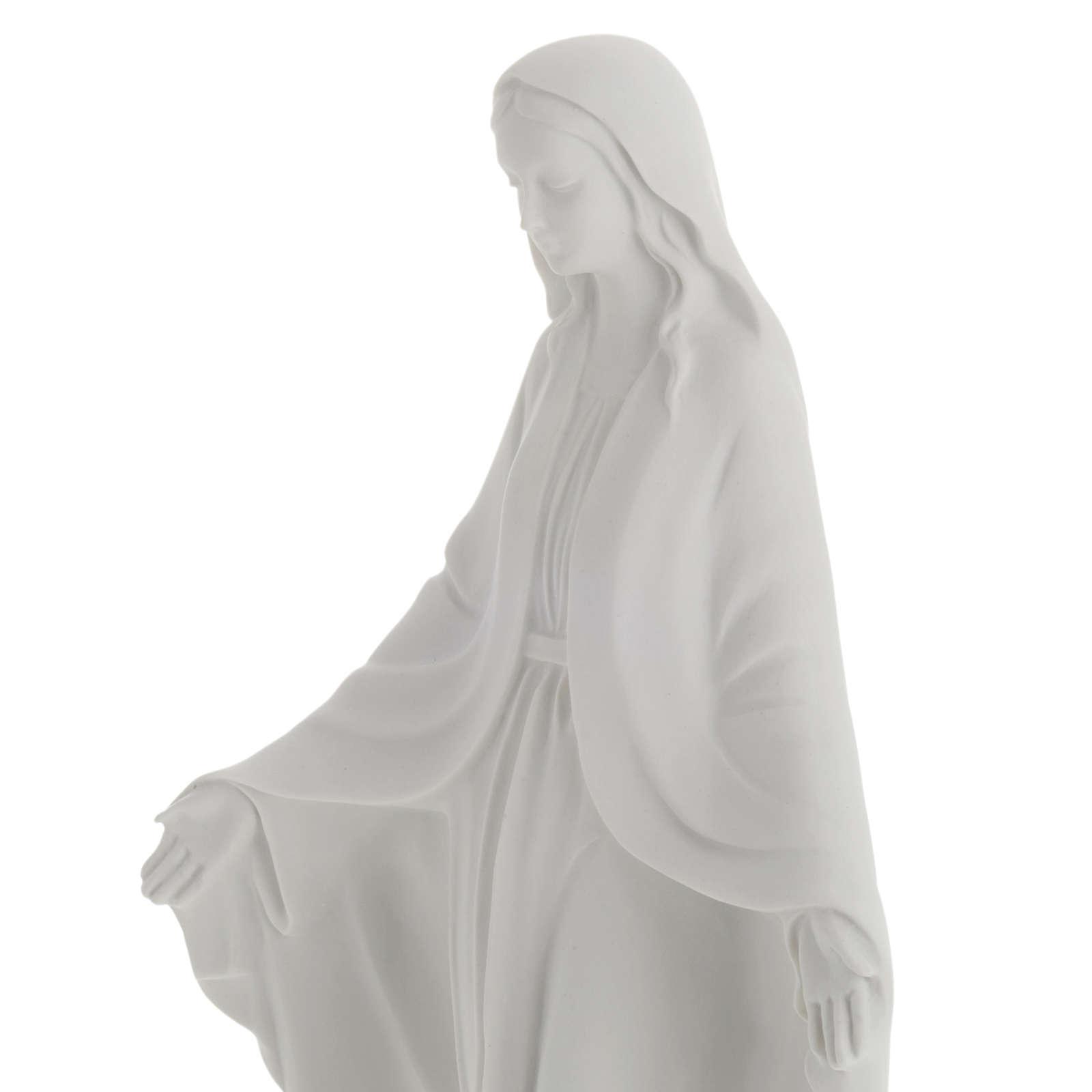 Statua Madonna Immacolata marmo sintetico bianco 40 cm 4