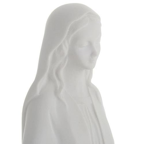 Statua Madonna Immacolata marmo sintetico bianco 40 cm 3