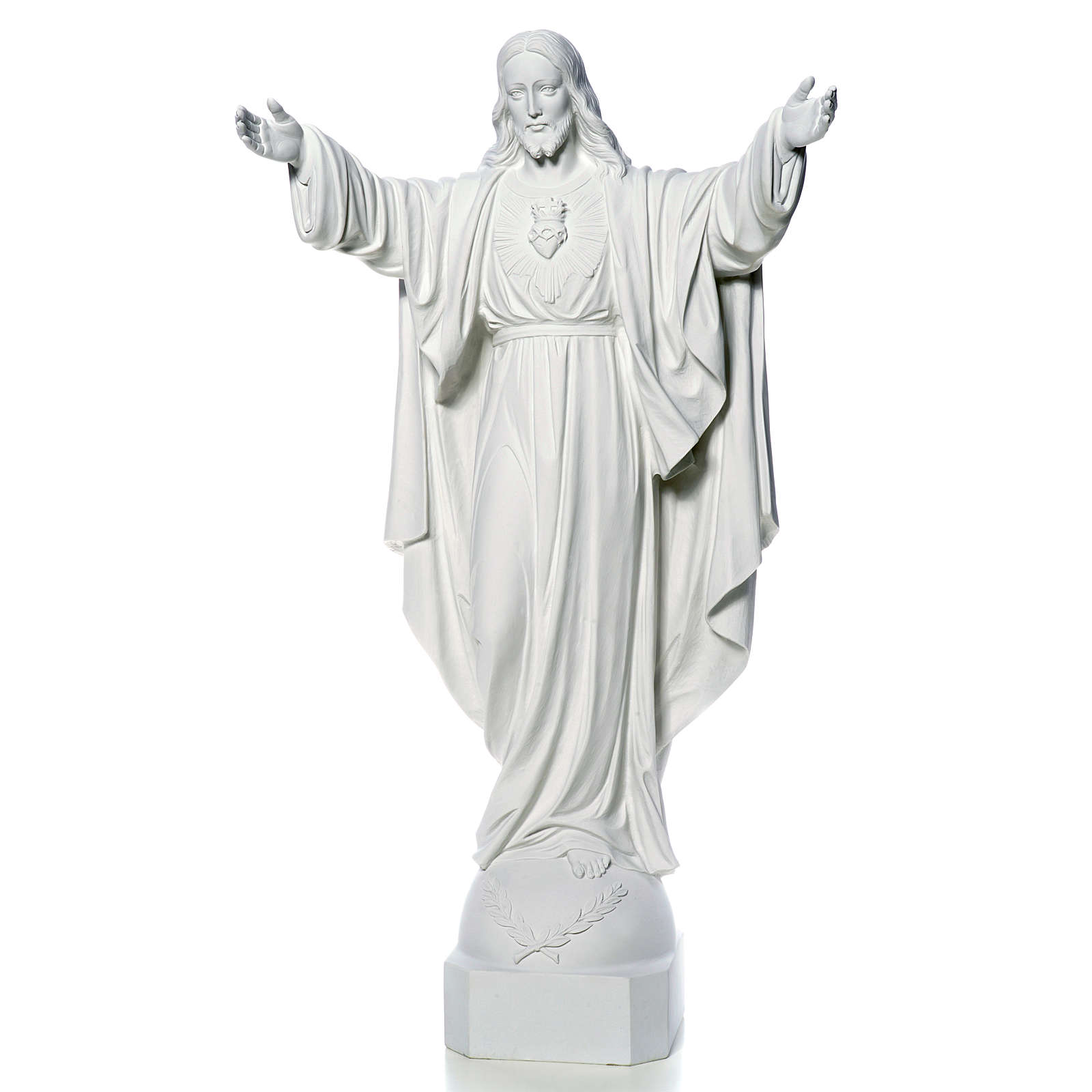Christ the Redeemer in reconstituted Carrara Marble, 100 cm 4
