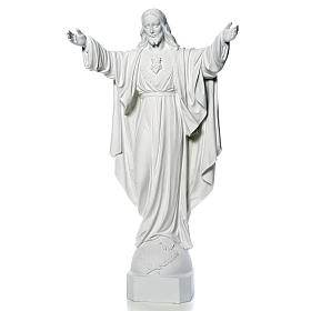 Christ the Redeemer in reconstituted Carrara Marble, 100 cm s5