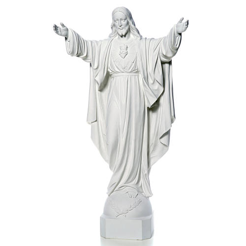 Christ the Redeemer in reconstituted Carrara Marble, 100 cm 5
